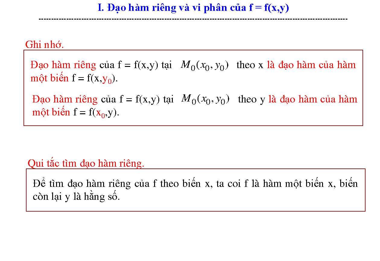 Tài liệu Bài tập có lời giải đạo hàm riêng và vi phân slide 5