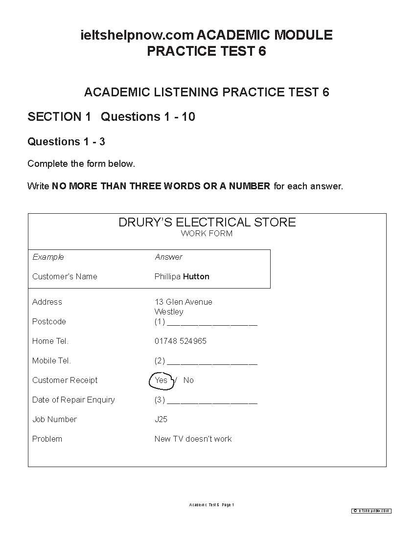ACADEMIC PRATICE TEST 6 FOR IELTS