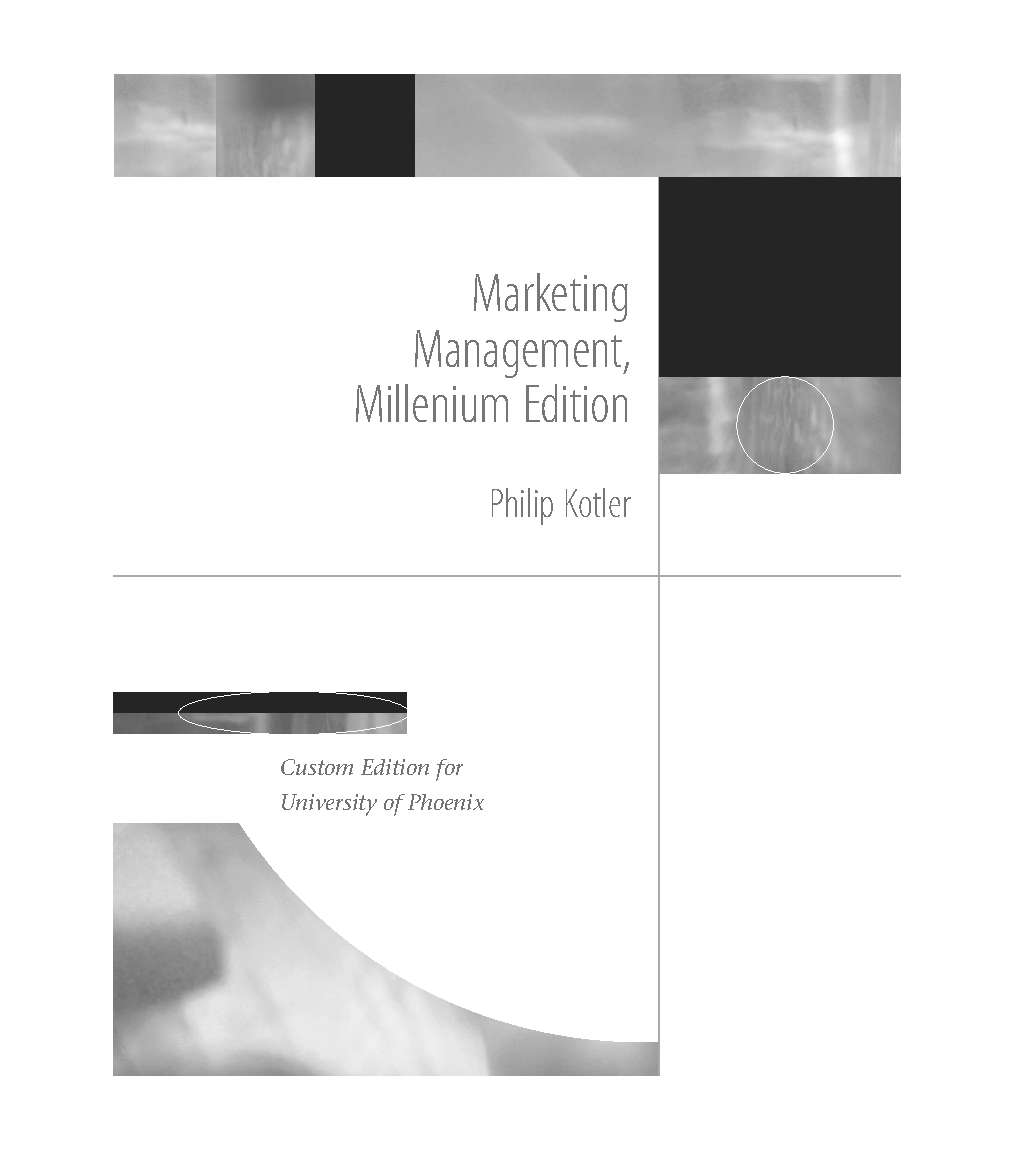 Marketing Management (Millenium Edition)