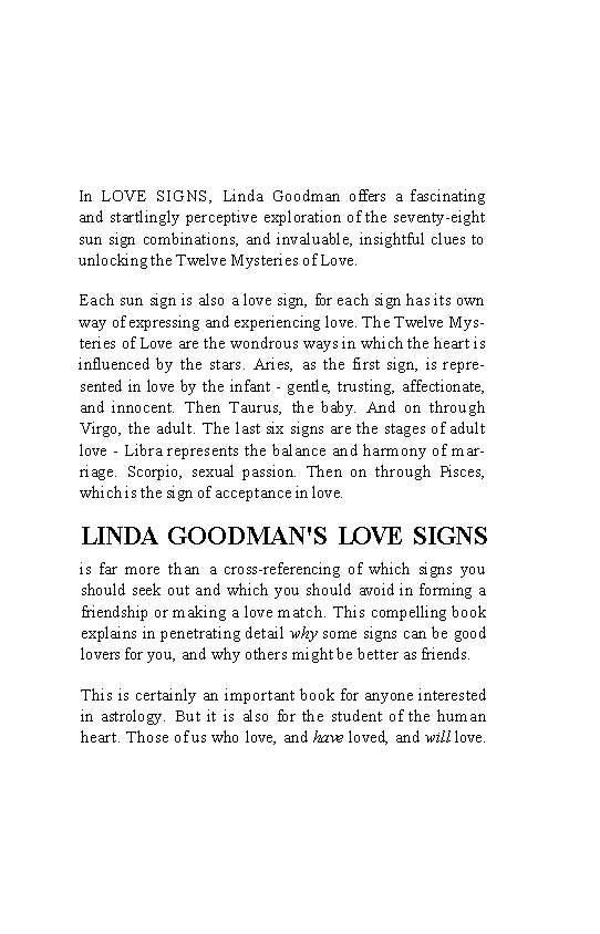 Linda Goodman - Love Signs