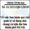 Quyết định số 01/2013/QĐ-UBND - Về việc ban hành quy chế quản lý sử dụng nhà chung cư trên địa bàn thành phố Hà Nội