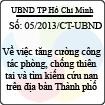 Chỉ thị 05/2013/CT-UBND - Về việc tăng cường công tác phòng, chống thiên tai và tìm kiếm cứu nạn trên địa bàn Thành phố