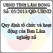 Quyết định 05/2013/QĐ-UBND của UBND tỉnh Lâm Đồng - Quy định tổ chức và hoạt động của Ban Lâm nghiệp xã
