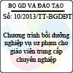 Thông tư 10/2013/TT-BGDĐT - Chương trình bồi dưỡng nghiệp vụ sư phạm cho giáo viên trung cấp chuyên nghiệp