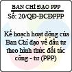 Quyết định 20/2013/QĐ-BCĐPPP - Kế hoạch hoạt động của Ban Chỉ đạo về đầu tư theo hình thức đối tác công - tư (PPP)
