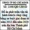 Quyết định 2398/2013/QĐ-UBND - Đề án phát triển vận tải hành khách công cộng bằng xe buýt giai đoạn từ năm 2012 đến năm 2020 trên địa bàn Thành phố Hồ Chí Minh