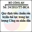 Thông tư 24/2013/TT-BCA - Quy định tiêu chuẩn rèn luyện thể lực trong lực lượng Công an nhân dân