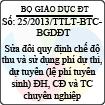 Thông tư liên tịch 25/2013/TTLT-BTC-BGDĐT - Sửa đổi quy định chế độ thu và sử dụng phí dự thi, dự tuyển (lệ phí tuyển sinh) đại học, cao đẳng và trung cấp chuyên nghiệp