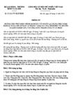 Thông tư 33/2012/TT-BLĐTBXH - Chính sách đối với người lao động theo Nghị định 59/2011/NĐ-CP về chuyển doanh nghiệp 100% vốn nhà nước thành công ty cổ phần