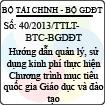 Thông tư liên tịch 40/2013/TTLT-BTC-BGDĐT - Hướng dẫn quản lý, sử dụng kinh phí thực hiện Chương trình mục tiêu quốc gia Giáo dục và đào tạo giai đoạn 2012 - 2015