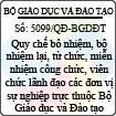 Quyết định 5099/QĐ-BGDĐT - Ban hành quy chế bổ nhiệm, bổ nhiệm lại, từ chức, miễn nhiệm công chức, viên chức lãnh đạo các đơn vị sự nghiệp trực thuộc Bộ Giáo dục và Đào tạo