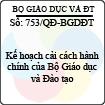 Quyết định 753/2013/QĐ-BGDĐT - Kế hoạch cải cách hành chính của Bộ Giáo dục và Đào tạo