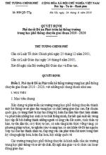 Quyết định số 959/QĐ-TTG của Thủ tướng Chính phủ - Phê duyệt Đề án Phát triển hệ thống trường Trung học phổ thông chuyên