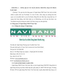 Nghiên Cứu Tình Hình Hoạt Động Cho Vay Khách Hàng Cá Nhân Để Đưa Ra Giải Pháp Nâng Cao Hiệu Quả Hoạt Đông Cho Vay Khách Hàng Cá Nhân Tại Navibank