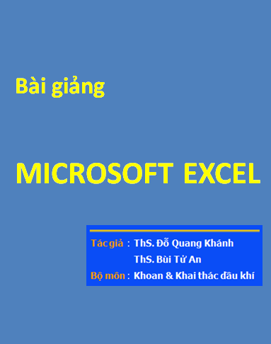 Bài giảng Microsoft Excel 2003