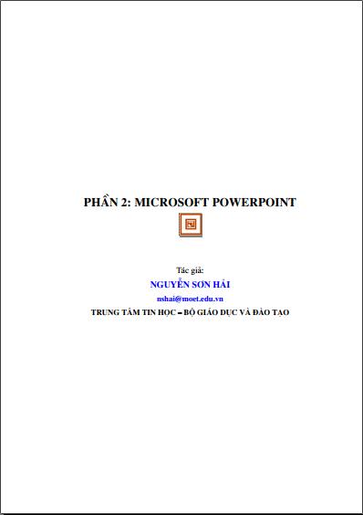 Giáo trình Microsoft PowerPoint