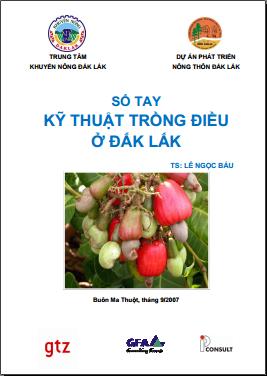 Sổ tay kỹ thuật trồng điều ở Đắk Lắk