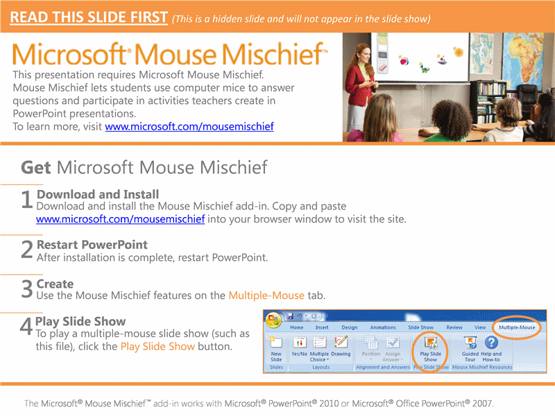 Mẫu Slide PowerPoint: Mouse Mischief Counting for Young Children